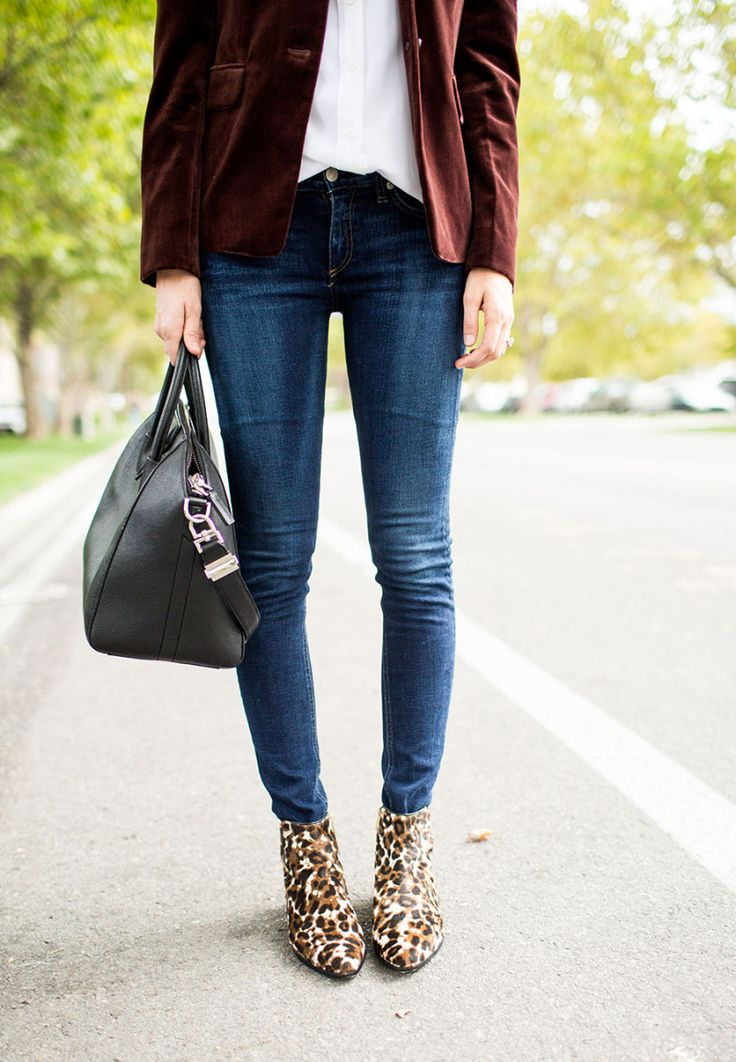 Leopard print boots pull this all together perfectly.