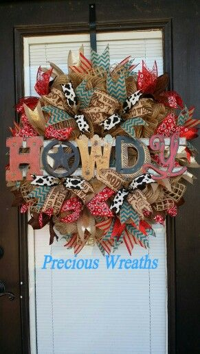 Howdy Western wreath                                                                                                                                                     More