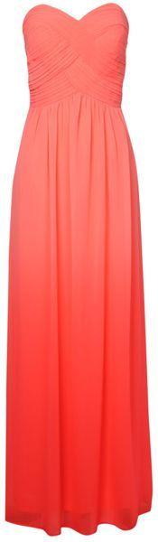 Jane Norman Ombre Pleated Maxi Dress #Bridesmaid Ombre Dress #peach www.finditforweddings.com