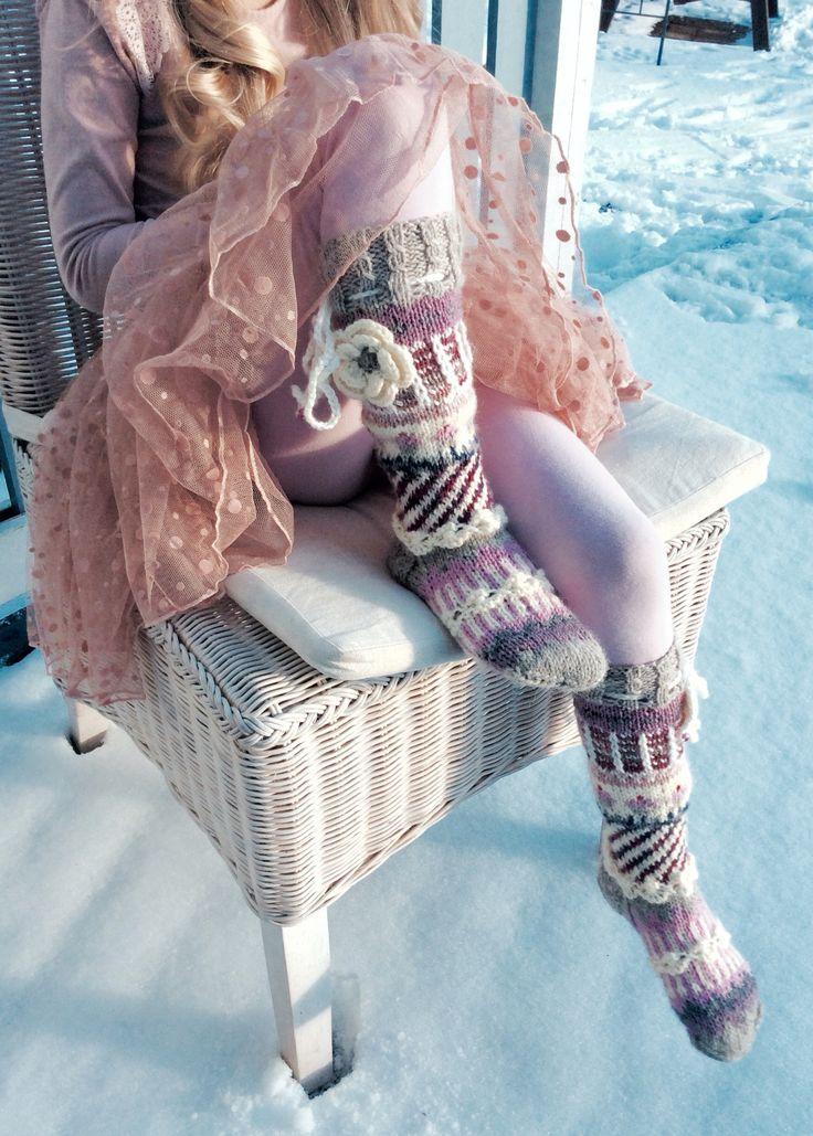 "Marsa's Socks ""Anelmaiset"" for a Little Princess"