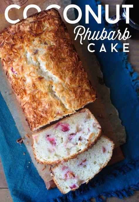 Coconut Rhubarb Cake @danguole