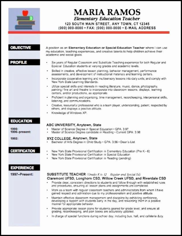 Free Sample Resume For Teachers Beautiful Best 25 Teacher Resume