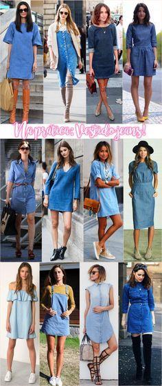 Desejando fortemente: Vestido jeans - Fashionismo