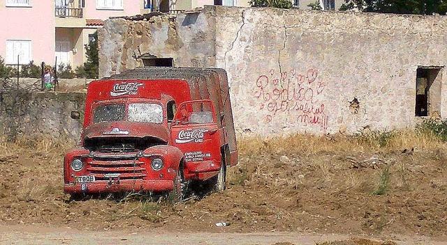 Old Coca-Cola Truck Abandoned In Cyprus