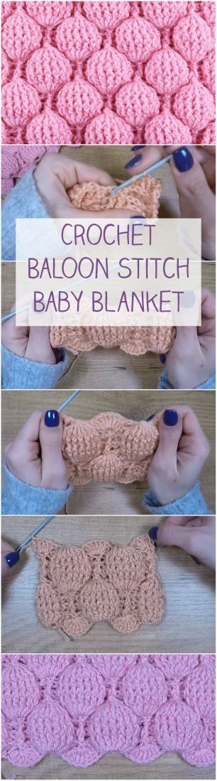 Crochet Balloon Stitch Baby Blanket #simpleandeasydiy
