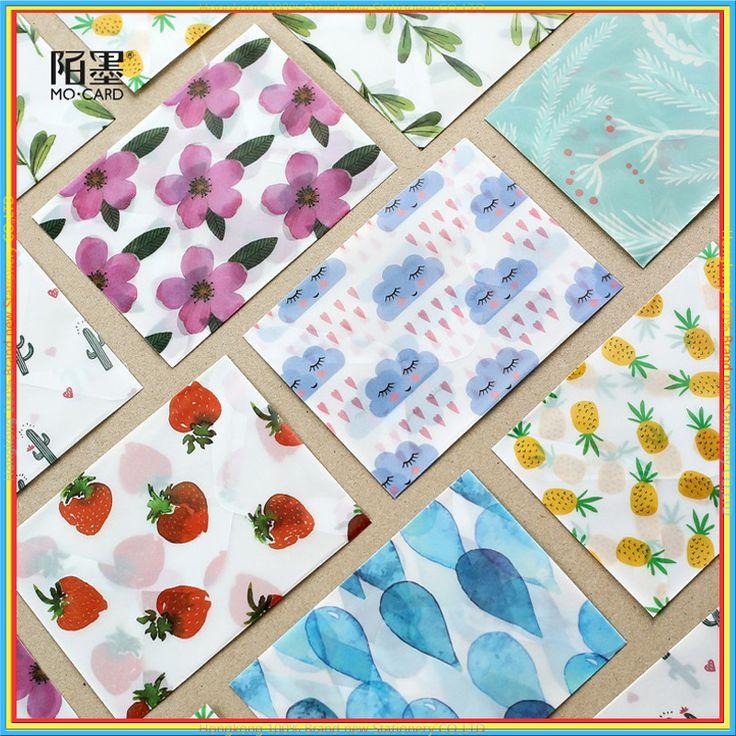 3 pcs/bag 3 pcs/lot Cute Kawaii natural Flower Sulfuric Acid Paper Envelope For Postcard Kids Gift School Materials  03243