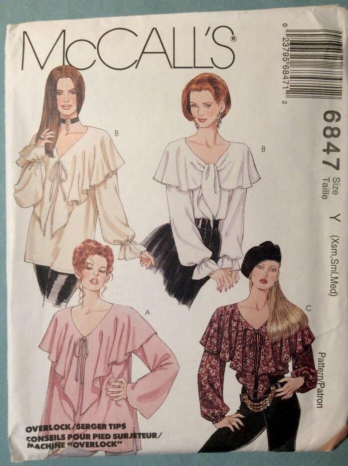 Mccalls Patterns Peasant Blouse 46