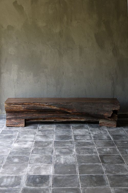 To many people, this will look like an ugly hunk of splintery wood. To me, this is exactly where I'd like to sit every morning to put my shoes on.