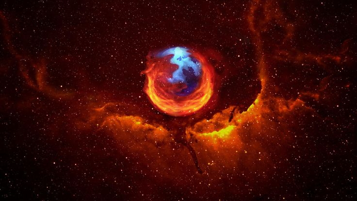 Awesome Firefox Space/Fire wallpaper!  Used this for a long time