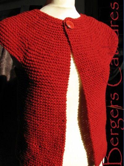 modèle tricot gratuit gilet sans manche femme