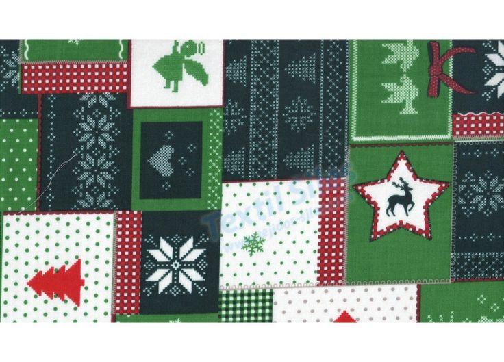 Patchwork Navidad Verde
