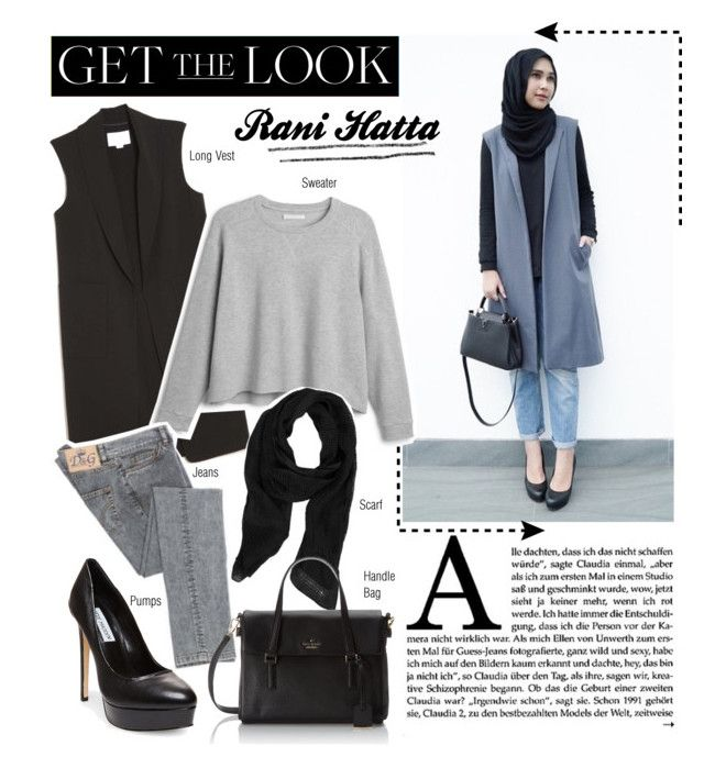 """Get the Look : Rani Hatta"" by aisyh93 ❤ liked on Polyvore featuring Alexander Wang, Margit Brandt, Steve Madden, Kate Spade, hijab and hijabers"