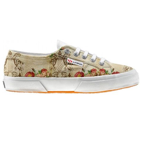 Shoe Superga cutomized Floral Vintage