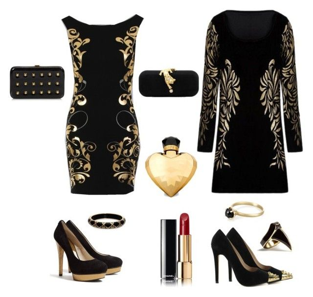Gold <3 by tamaraispeople on Polyvore featuring MICHAEL Michael Kors, Nly Shoes, Topshop, Talullah Tu, DJ By Dominic Jones, Megan Thorne, Chanel and Lipsy