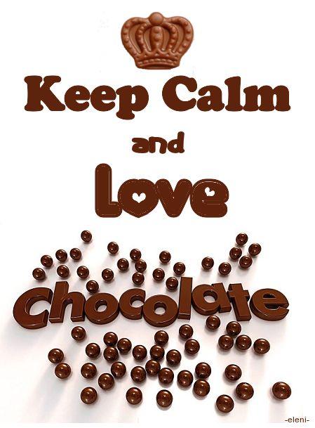 Keep Calm and Love Chocolate - created by eleni
