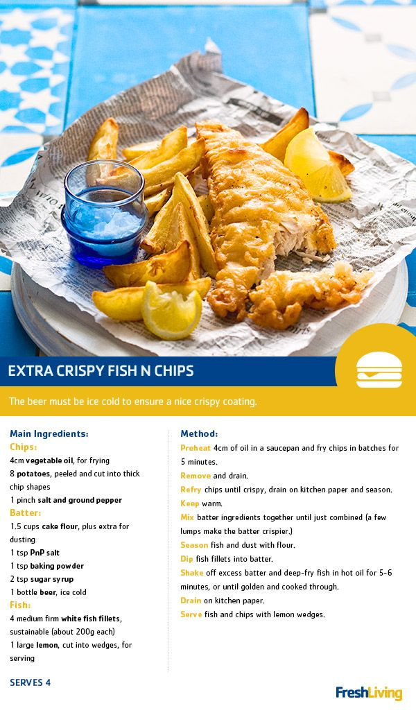 It's the weekend... You made it! Treat yourself with some extra crispy fish and chips. You've earned your Fast Food Friday! #dailydish #picknpay #freshliving #PnP