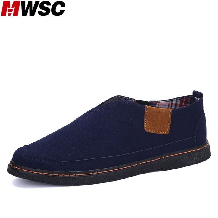 MWSC Spring New Suede Design Shoes Men's Slip-On Patchwork British Style Casual Flats Fashion Shoes #Affiliate