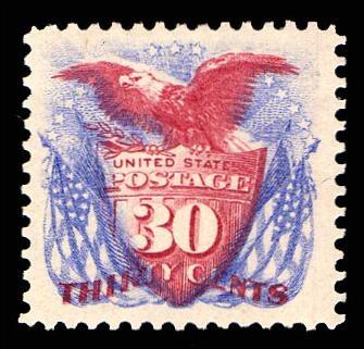 Gary Posner, Inc. has this item on Collectors Corner - Scott# 131, 1875 30c Ultramarine & carm, PSE VF-XF 85, Mint OGph
