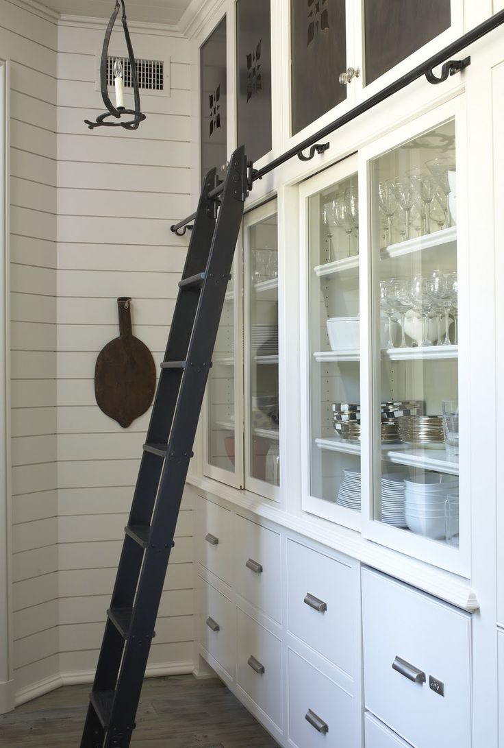 Wouldn't want a ladder in my kitchen, but maybe the butler's pantry?