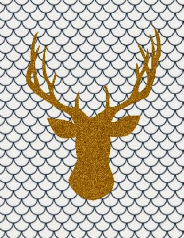 Lámina cabeza de ciervo para imprimir gratis