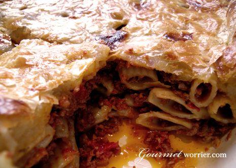 Timpana - Baked Macaroni Pie. A personal favorite! #malta #foodporn