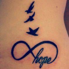 hope epilepsy tattoos | Infinity hope tattoo and birds I really like this, if I ever consider ...