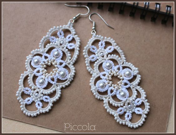 Lacy earrings Venezia от PiccolaLacyPassion на Etsy: