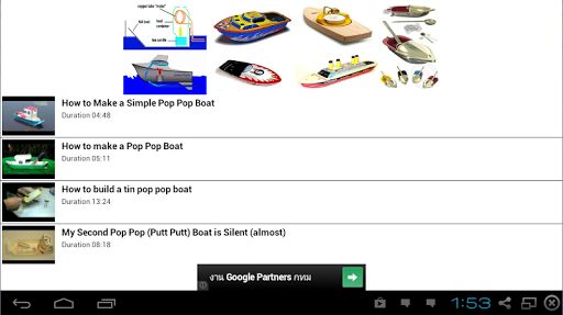 You may have seen a sort of toy boat powered by a very simple steam engine. This sort of boat is variously called a putt-putt or pop-pop.<p>They work by having a very simple boiler powered by a candle in which water is turned to steam. The steam forces wa
