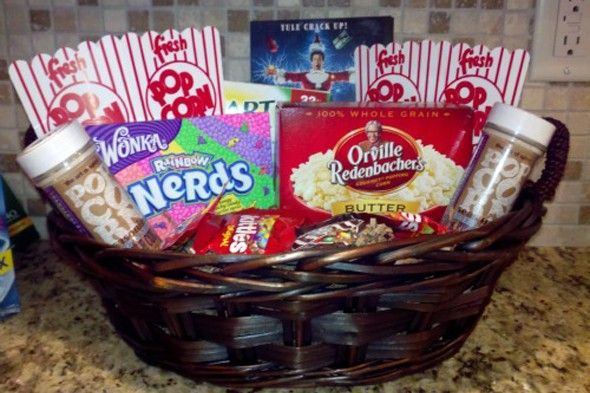 movie night gift basket Idea