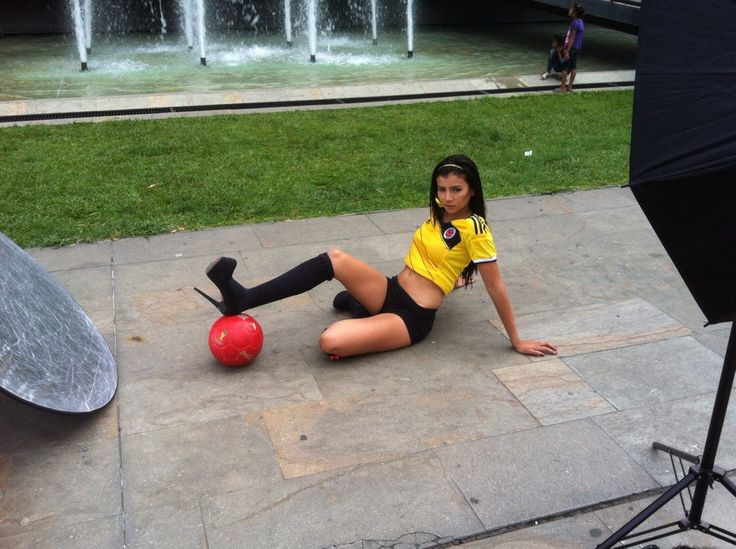 Steicy Suarez brings the heat for #Colombia in the 2014 Brazil World Cup | Colombia Model