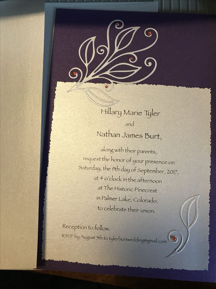 In anticipation of creating these wedding invitations, I ...