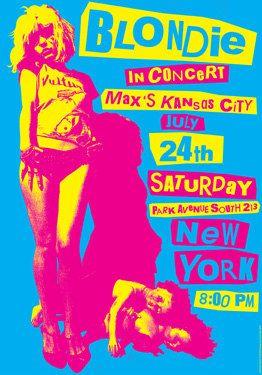 BLONDIE Debbie Harry 24 luglio 1976 New York - manifesto artistico concerto