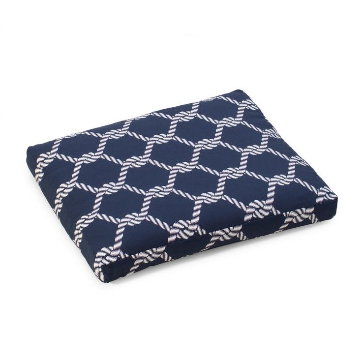 Coral Coast Nautical 19 x 19 in. Outdoor Seat Pad Nautical Knots - 9412PK1-3786C