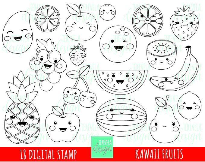 50 Sale Pool Digital Stamps Summer Digi Stamps Commercial Etsy Fruit Coloring Pages Coloring Pages Digi Stamp