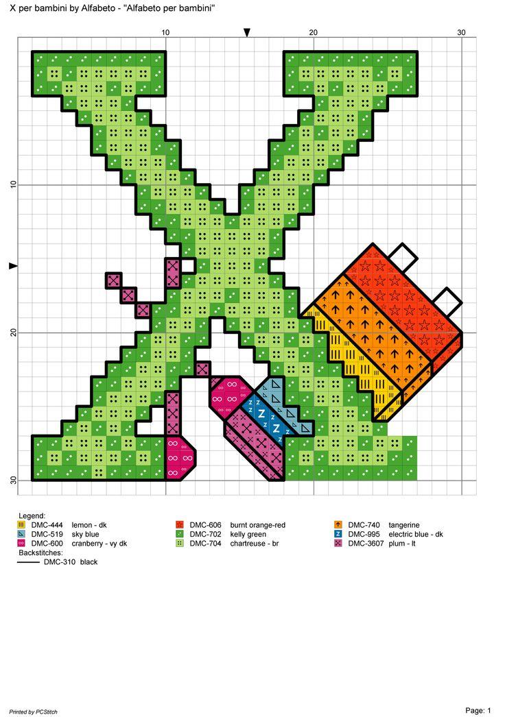 Alfabeto per bambini x alfabeti a punto croce pinterest for Alfabeti a punto croce per bambini