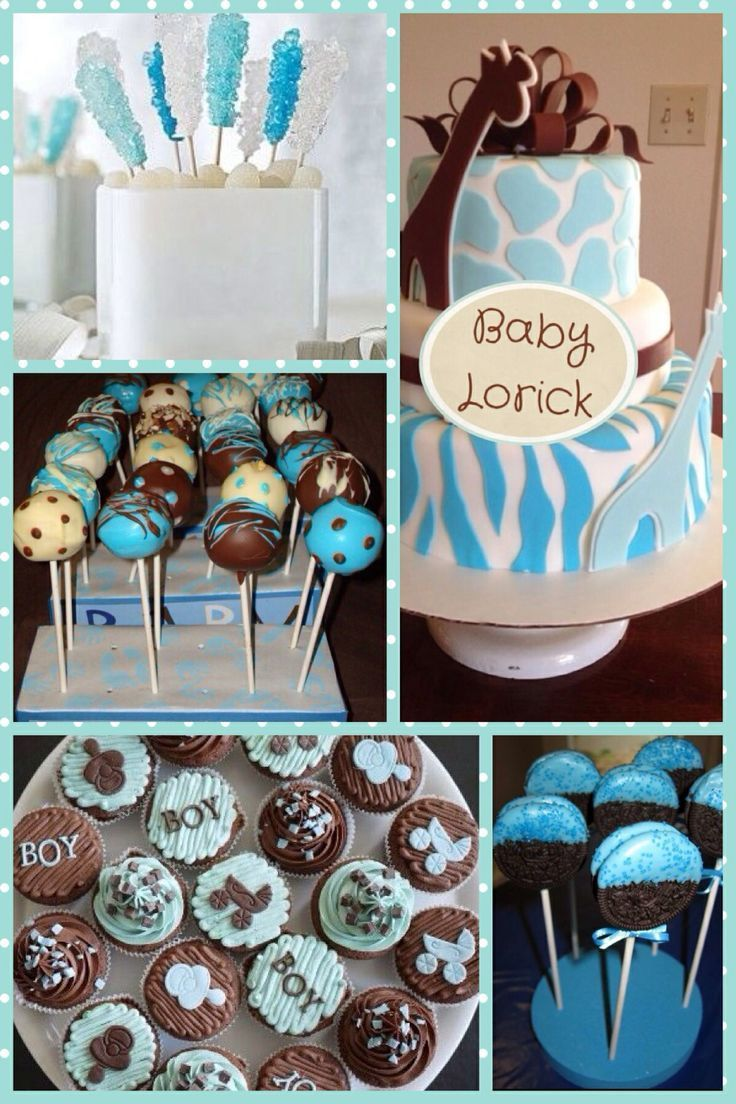 Unique baby boy shower for Baby shower decoration ideas boy