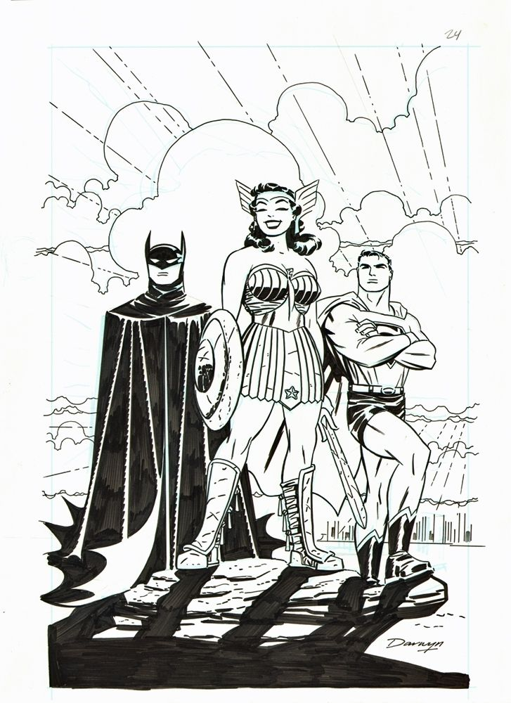 Justice League - The New Frontier Special Splash Page by Darwyn Cooke Comic Art
