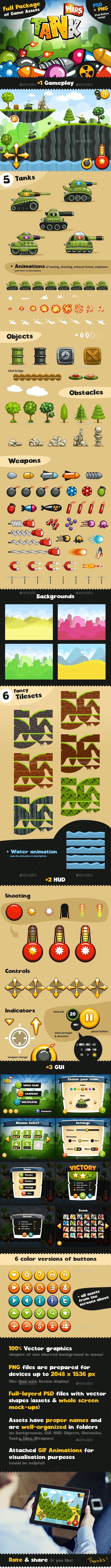 Game Assets for Tank Wars - Game Kits Game Assets § Find more artworks: www.pinterest.com/aalishev/ § Like us on Facebook: https://www.facebook.com/inspirationpins