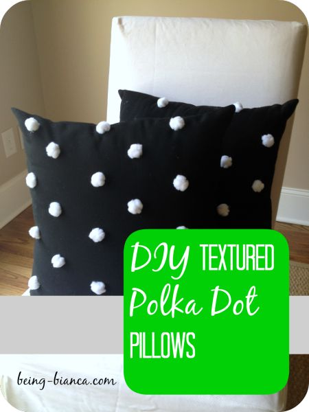 SIMPLE DIY polka dot pillows - so many options on color combos for any room! These preppy pillows are a great decorative accent and such a simple craft project that anyone can do!