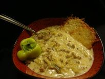 sausage stuffed banana pepper soup  first place at the 10th annual knab family soup party!