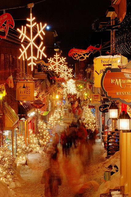Christmas in Quebec, Canada (this gal's board has a lot of great Christmas pins & more Christmas in Quebec pins)  Inspired me to spend a Christmas there one day :) http://pinterest.com/maryanne77/holidays-christmas-winter/