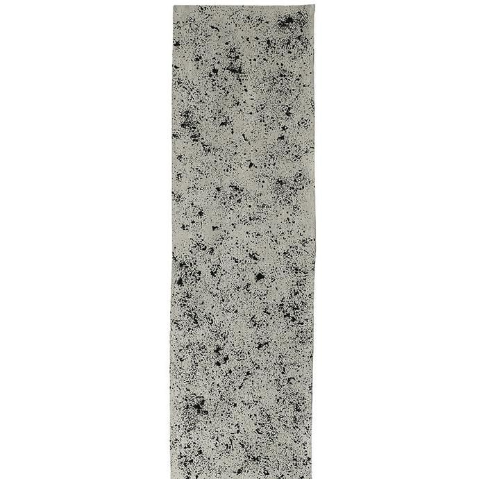 Oatmeal grey table runner with splats of black
