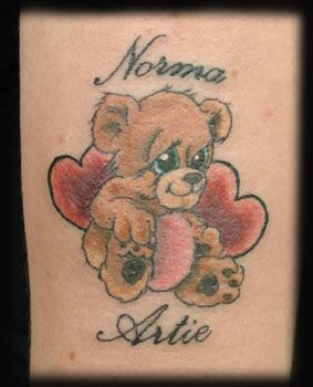 memorial tattoos teddy bears and tattoos and body art on pinterest. Black Bedroom Furniture Sets. Home Design Ideas