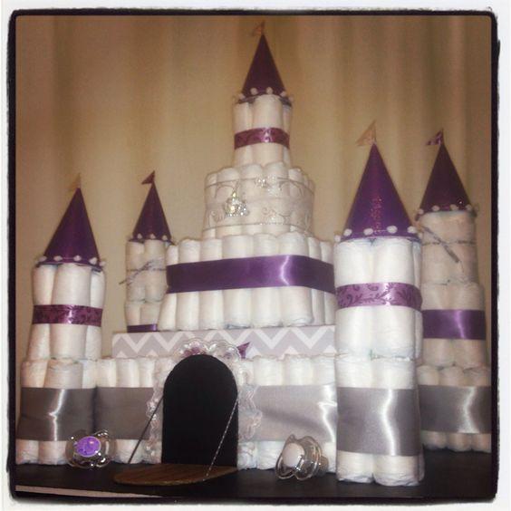 How To Make A Disney Castle Diaper Cake