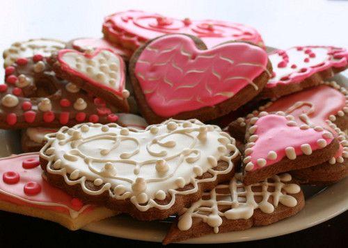 valentine heart cookiesValentine'S Day, Valentine Cookies, Valentine Day Gift, Gingers Cookies, Pretty Cookies, Gift Ideas, Heart Cookies, Food
