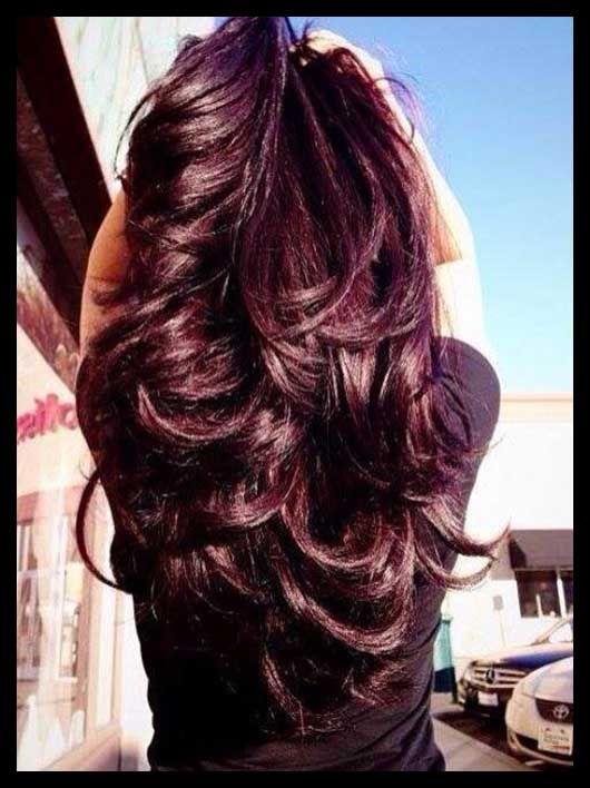 burgundy hair fall 2014 | Dark violet/Burgundy hair colors Hair color trends Fall 2014-2015