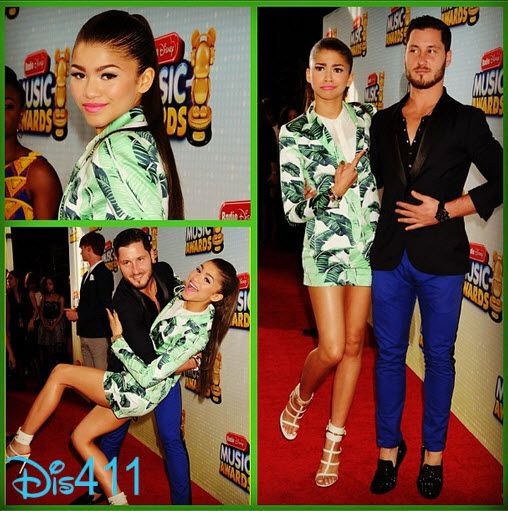 Photo Collage: Zendaya And Val Chmerkovskiy At The RDMAs!!!