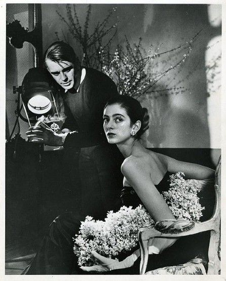 Dell'Orefice with photographer Horst P. Horst, taken by Leonard McCombe for Life Magazine in 1947, just two of the iconic photographers she worked with in the first half of her modelling career.