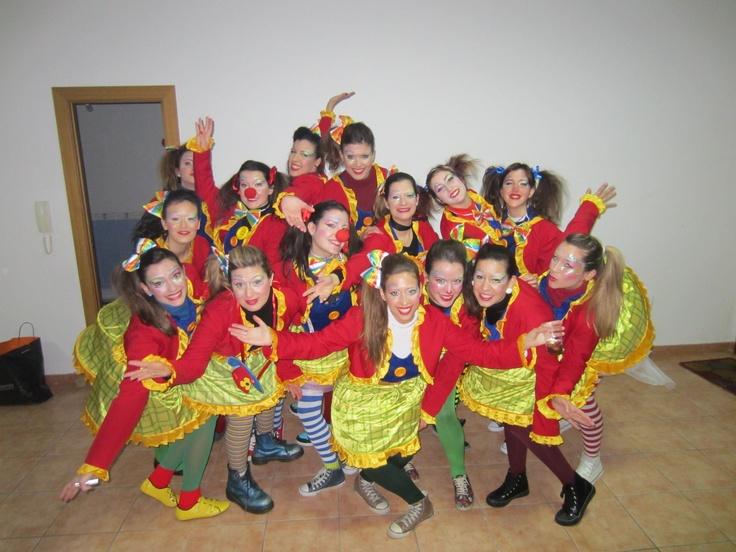 """Disfraz de grupo """"Circo"""".  Sábado, 9 de febrero de 2013."""