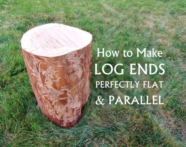 Picture of How to make log ends perfectly flat & parallel